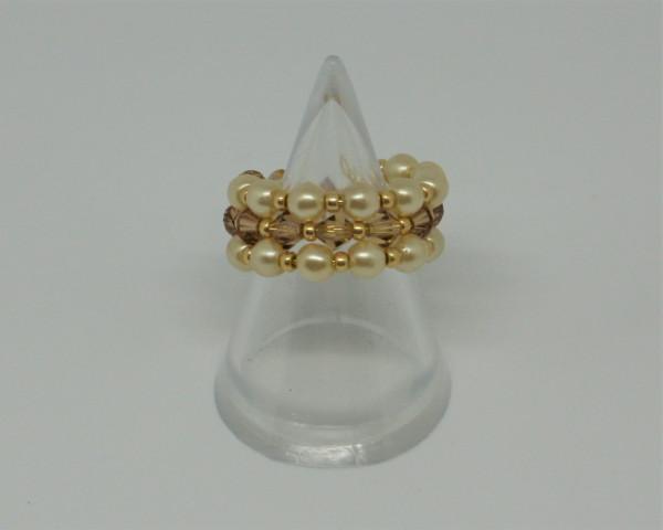 Machbar Schmuck Ring Barock Perlen