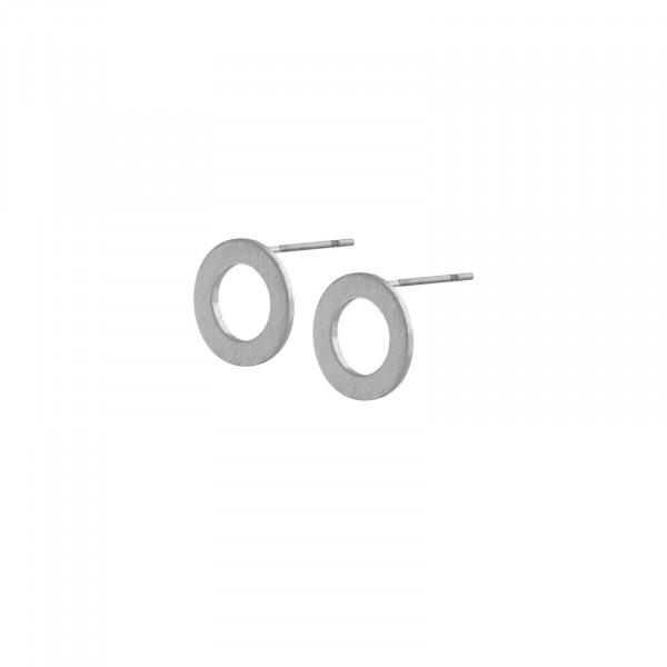 Theia Mini Open Dot Ohrring Rhodiniert