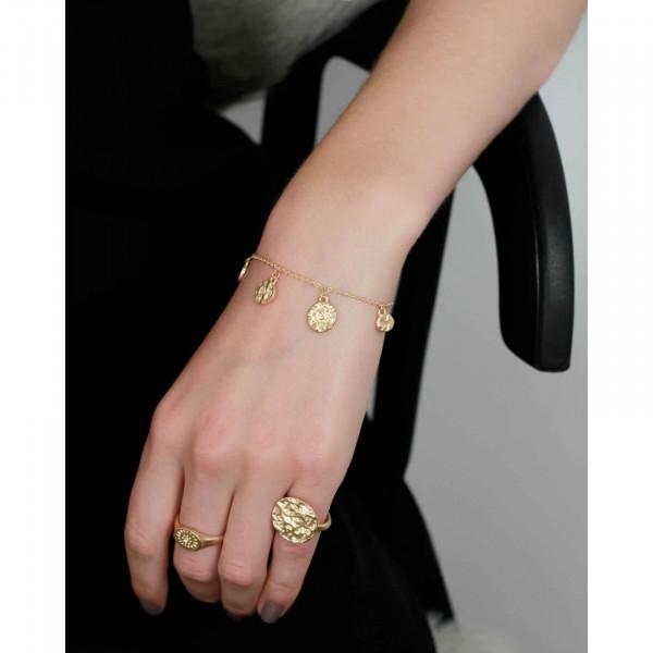 Amber Dynamic Armband Vergoldet