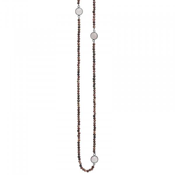 Safron Elastisch Halskette Hämatit Beschichtet