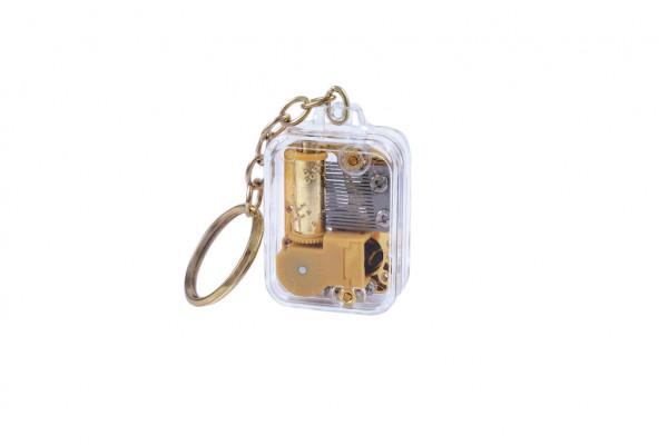 Schlüsselanhänger mit Miniaturspielwerk