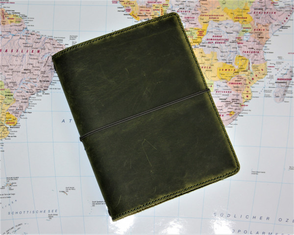 Machbar Travelers Notebook Leder Notizbuch A5 olive