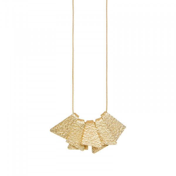 Amber Construct Halskette Vergoldet