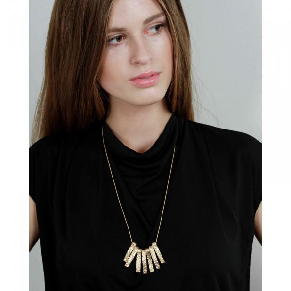 Amber Wave Halskette Vergoldet