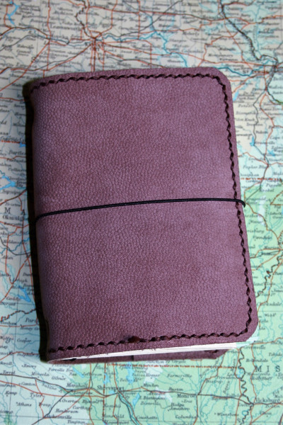 Machbar Leder Travelers Notebook Notizbuch rosa A7