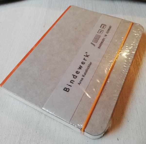 Bindewerk Notizbuch B6 orange liniert
