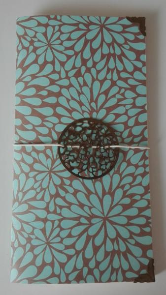Machbar Travelers Notebook Blüten türkis braun Standard