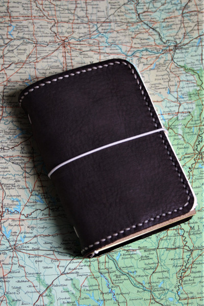 Machbar Leder Travelers Notebook Notizbuch dunkelbraun A7