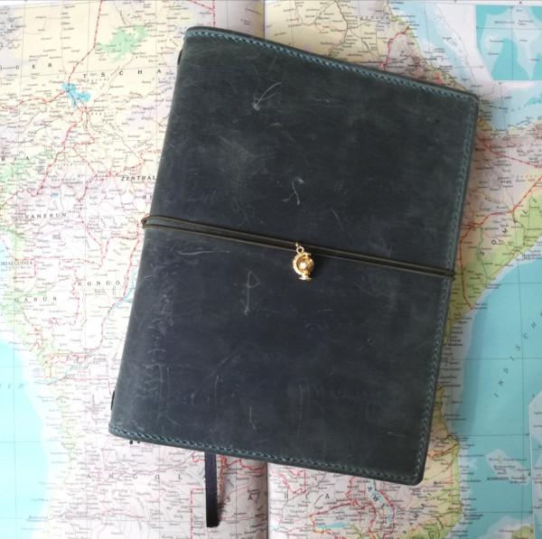 Machbar Ledernotizbuch-Travelers Notebook-A5-Tanne