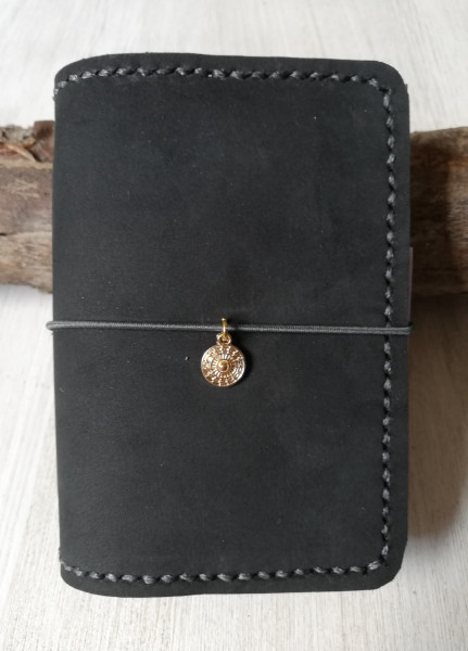 Machbar Leder Notizbuch Travelers Notebook schwarz A7
