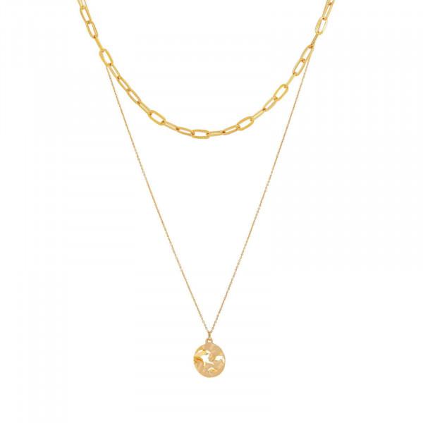 Ripple Chain Halskette Vergoldet