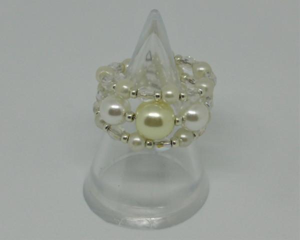 Machbar Schmuck Ring Perlen und Kristalle