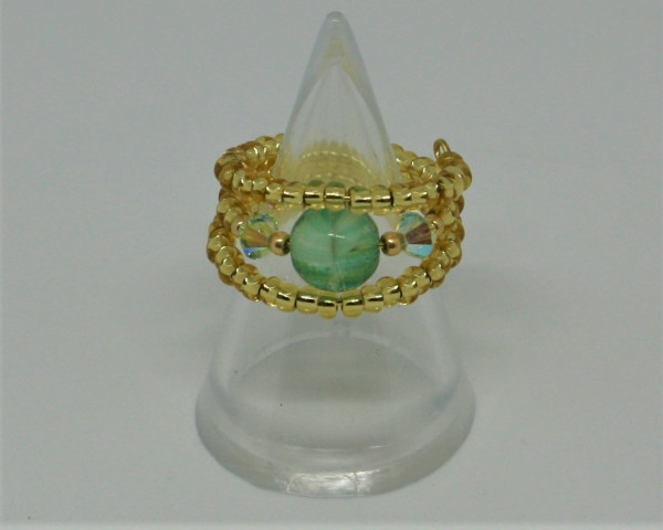 Machbar Schmuck Ring mit Swarovski gold grün