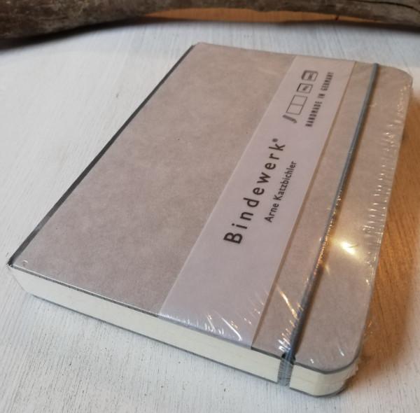 Bindewerk Notizbuch B6 grau blanko