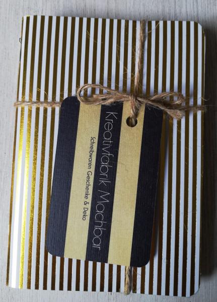 Machbar Notizhefte 3er Pack Ersatzhefte gold A6
