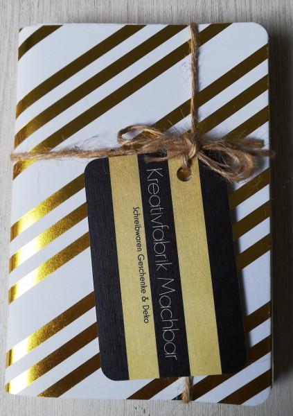 Machbar Notizhefte 3er Pack gold A6 für Travelers Notebook