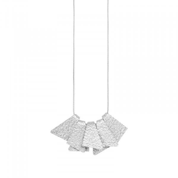 Amber Construct Halskette Versilbert