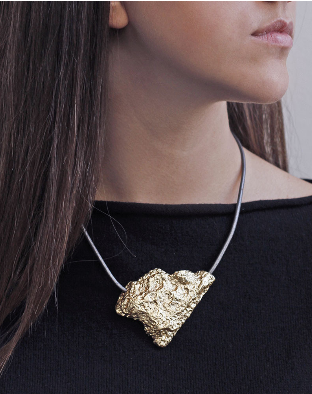 Virginia Stone Halskette Vergoldet