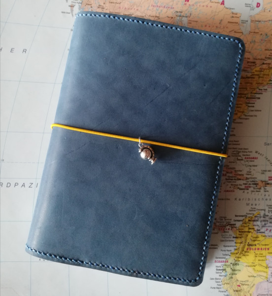 Machbar Travelers Notebook Leder Notizbuch B6 - blau