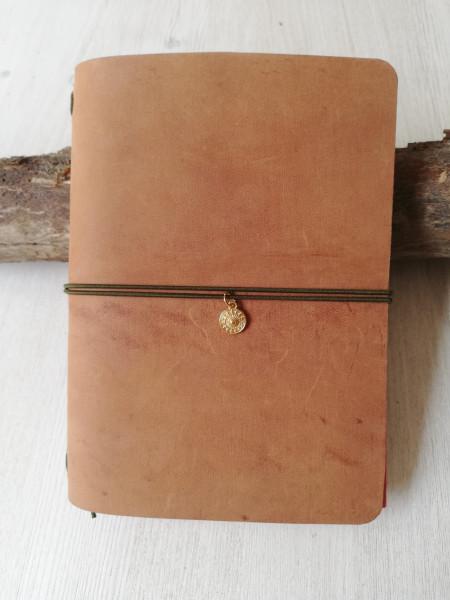 Machbar Leder Notizbuch Travelers Notebook hellbraun A6