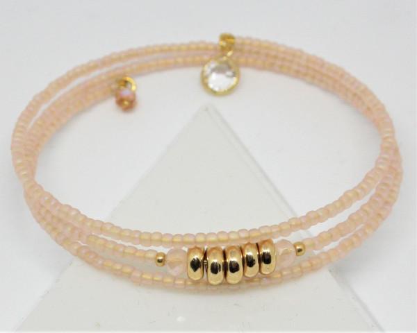 Machbar Wickelarmband puder gold
