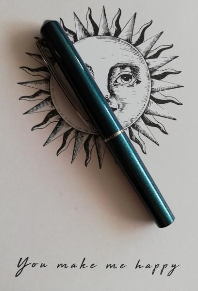 ONLINE Mini Tintenroller dunkelgrün