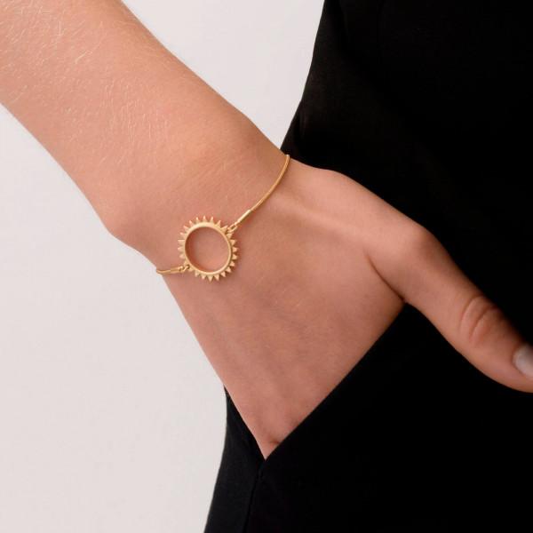 Sun Simple Armband Vergoldet
