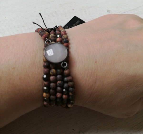 Rosie Elastisch Halskette Hämatit Beschichtet