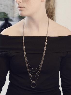 Tatiana Chain Halskette Rose Vergoldet