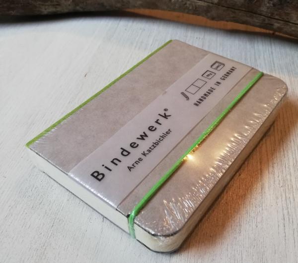 Bindewerk Notizbuch grün A6 blanko