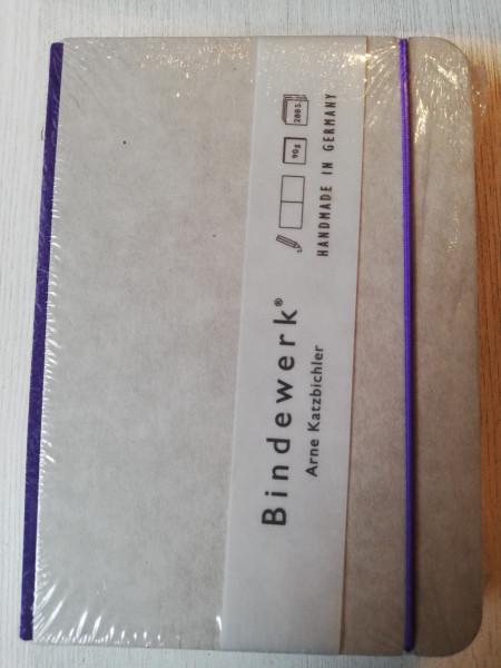 Bindewerk Notizbuch B6 lila linierte Seiten